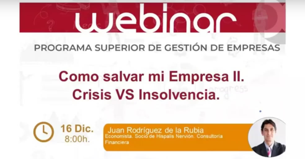 Cómo salvar mi Empresa II: Crisis vs Insolvencia